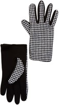 Just Jamie Houndstooth Knit Tech Gloves
