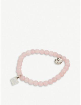 PSYCHIC SISTERS Herkimer diamond and rose quartz bracelet