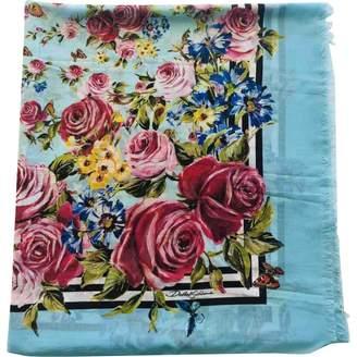 Dolce & Gabbana Blue Cotton Scarves