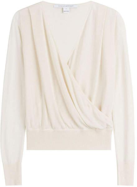 Diane von Furstenberg Wrapped Knit Top