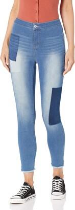 Black Daisy Women's Tube Hi-Rise Ankle Skinny Jean