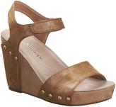 Antelope Bronze Metallic Leather Wedge Sandal