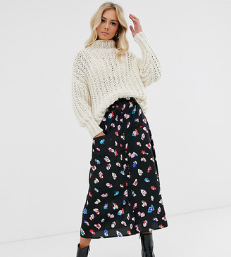Wednesday's Girl midaxi skirt in bright floral