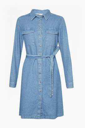 French Connection Avery Denim Belted Shirt Dress