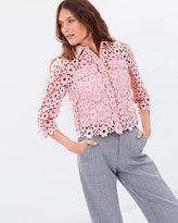 Whistles Lia Daisy Lace Shirt
