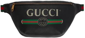 Gucci Black Medium Logo Belt Bag