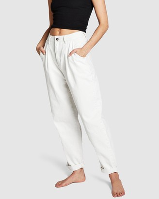 Cotton On Women's White Mom Jeans - Slouch Mom Jeans - Size 12 at The Iconic