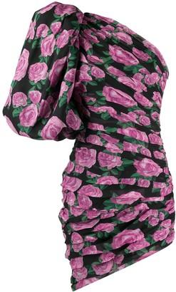 Giuseppe di Morabito Puffed Sleeve Floral Print Dress