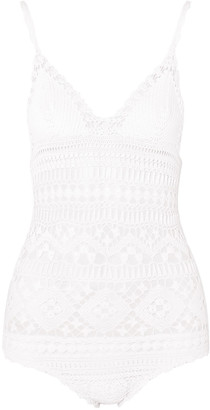 Isabel Marant Connie Crocheted Cotton Bodysuit
