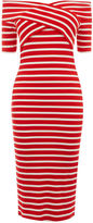Oasis Bardot Wrap Stripe Dress