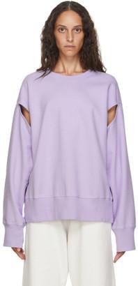 MM6 MAISON MARGIELA SSENSE Exclusive Purple Slit Sleeve Sweatshirt