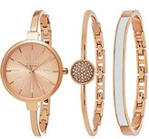 SO&CO New York Women's Madison Rose Gold-Tone Bangle Watch and Bracelet Set