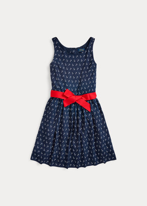 Ralph Lauren Anchor-Print Twill Dress