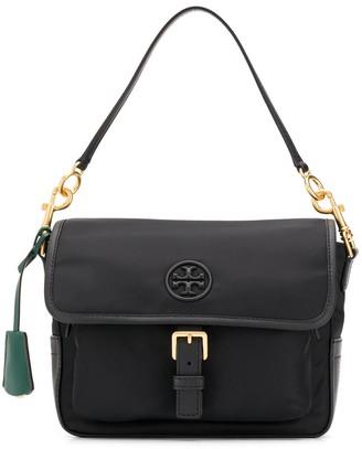 Tory Burch logo patch satchel bag
