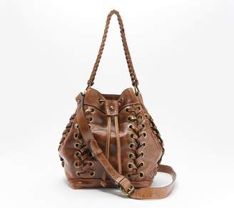 Patricia Nash Leather Drawstring Satchel - Martina
