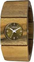 Vestal Women's RWS3W03 Rosewood Slim Real Wood Sandalwood Bangle Watch