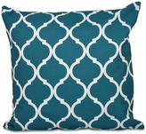 16 in. x 16 in. French Quarter Geometric Print Pillow in Green