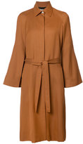 Rosetta Getty belted coat - women - Cotton/Cupro/Viscose - 4