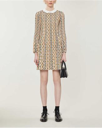 Maje Rockilana woven mini dress
