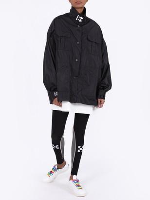 Off-White Black Nylon Track Jacket
