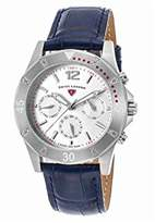 Swiss Legend Women's 'Paradiso' Swiss Quartz Stainless Steel and Leather Casual Watch, Color:Blue (Model: 16016SM-02-BLS)