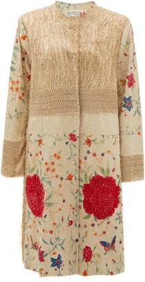 By Walid Tanita 19th-century Silk Piano-shawl Jacket - Pink Multi