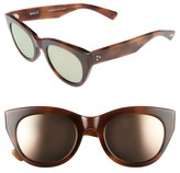 Salt Women's Pila 52Mm Polarized Sunglasses - Cognac/ Rose Mirror