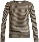 Etoile Isabel Marant Karon long-sleeved striped linen-blend T-shirt