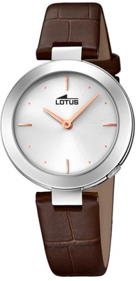 Lotus Quartz Watch with Real Leather Strap 18483/1