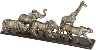 Uma Enterprises Metallic Silver Safari Animal Sculptures Table Decor Statue