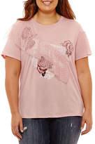 Arizona Ruffle Graphic T-Shirt- Juniors Plus
