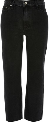 River Island High Waist Straight Leg Jean - Black