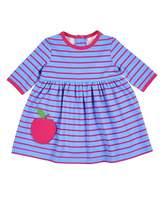 Florence Eiseman Stripe Dress w/ Apple Pocket, Size 3-24 Months
