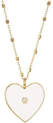 Jennifer Zeuner Jewelry Fifi 14K Gold Vermeil & Diamond Heart Pendant Necklace