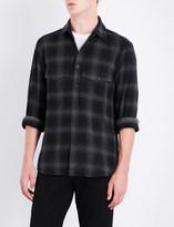 Marcelo Burlon County of Milan Leopard-motif regular-fit brushed cotton-blend shirt