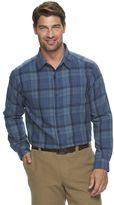 Columbia Big & Tall Notched Peak Classic-Fit Plaid Button-Down Shirt