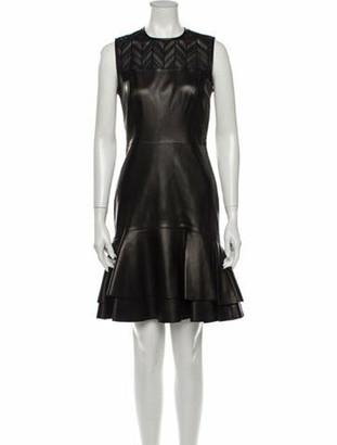 Jason Wu Lamb Leather Knee-Length Dress w/ Tags Brown