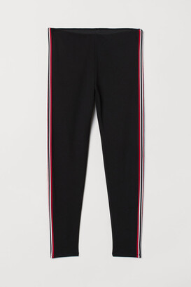 H&M H&M+ Side-stripe Leggings - Black