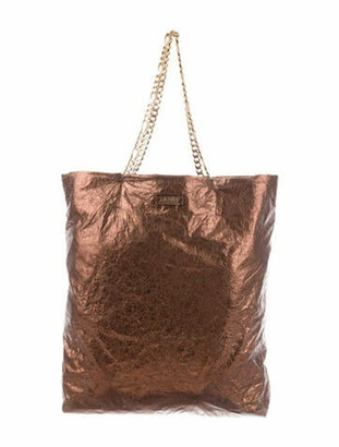 Lanvin Carry Me Leather Tote Brown