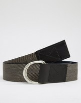 Asos Woven Belt In Herringbone