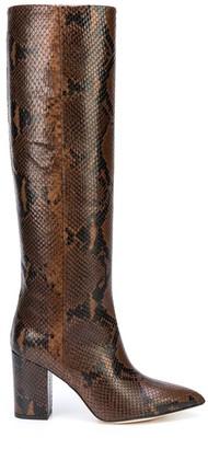Paris Texas Python Print High Heel Boot