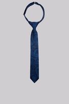 Moss Bros Navy Paisley Silk Boys Tie