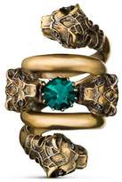 Gucci Double wrap ring with tiger heads