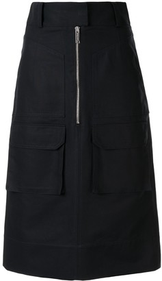 MAISON KITSUNÉ Zip-Through Cargo Midi Skirt