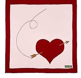 Amber Hagen Heart & Arrow Cotton-Cashmere Baby Blanket-Pink