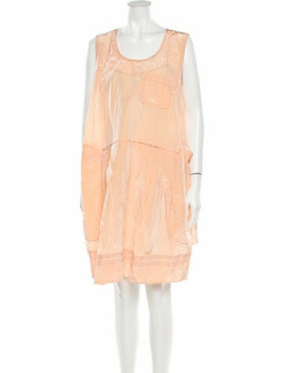 Marni Scoop Neck Knee-Length Dress Orange