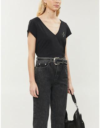 Zadig & Voltaire Cruz sequin-embellished cotton-blend T-shirt