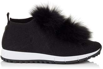 Jimmy Choo Norway Fur Pom Pom Sneakers