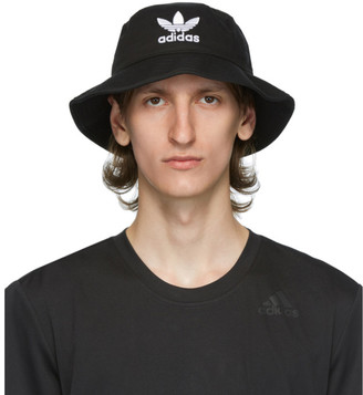 adidas Black and White Trefoil Bucket Hat