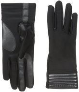Isotoner Women's Smartouch Spandex Glove with Metallic Hem Thermaflex Lining